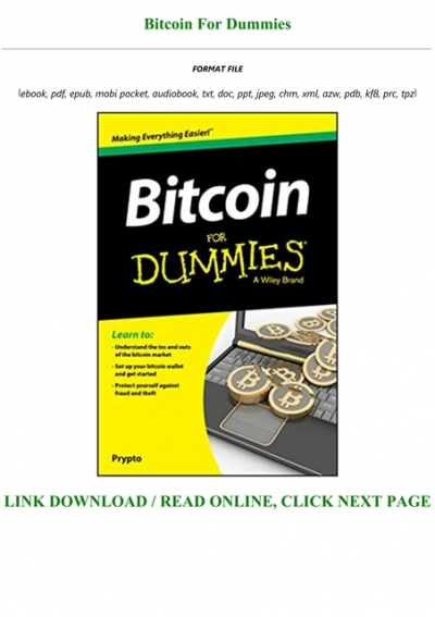 bitcoin for dummies epub)
