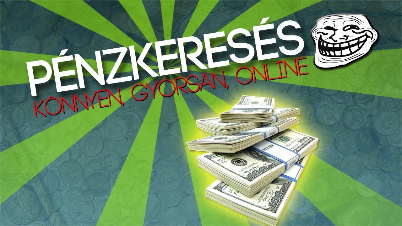 gyors pénz a neten