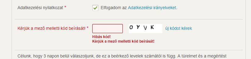 opciós kódok)