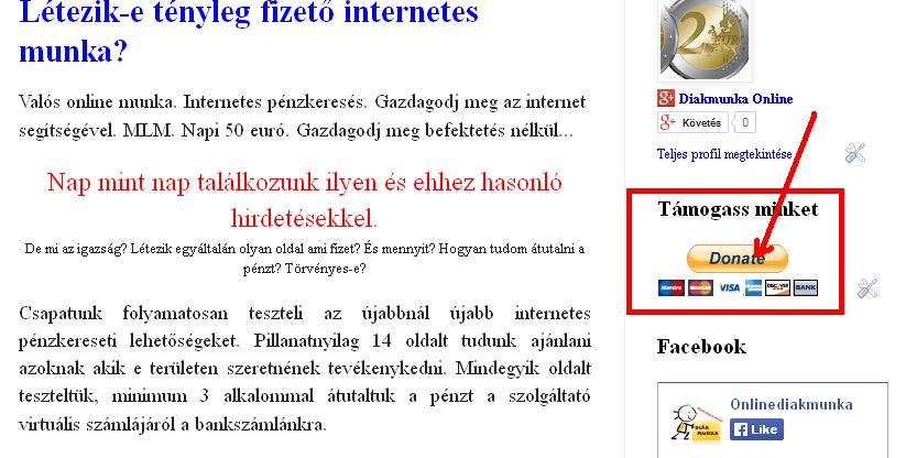 valós pénz az interneten befektetés nélkül)