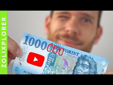 és a YouTube-on keresett pénz)