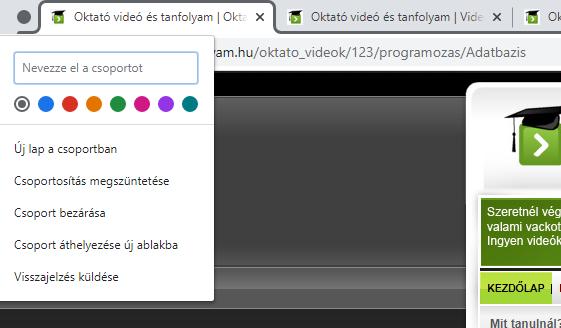 videó opciók tanfolyamok)