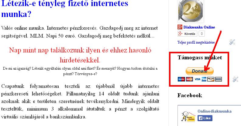 keresetek az internetes fordítások révén