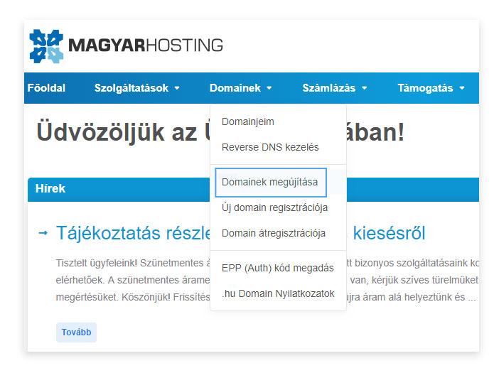 opciók regisztrációja)