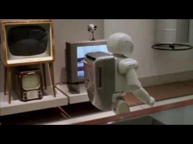 robot robot üveggel