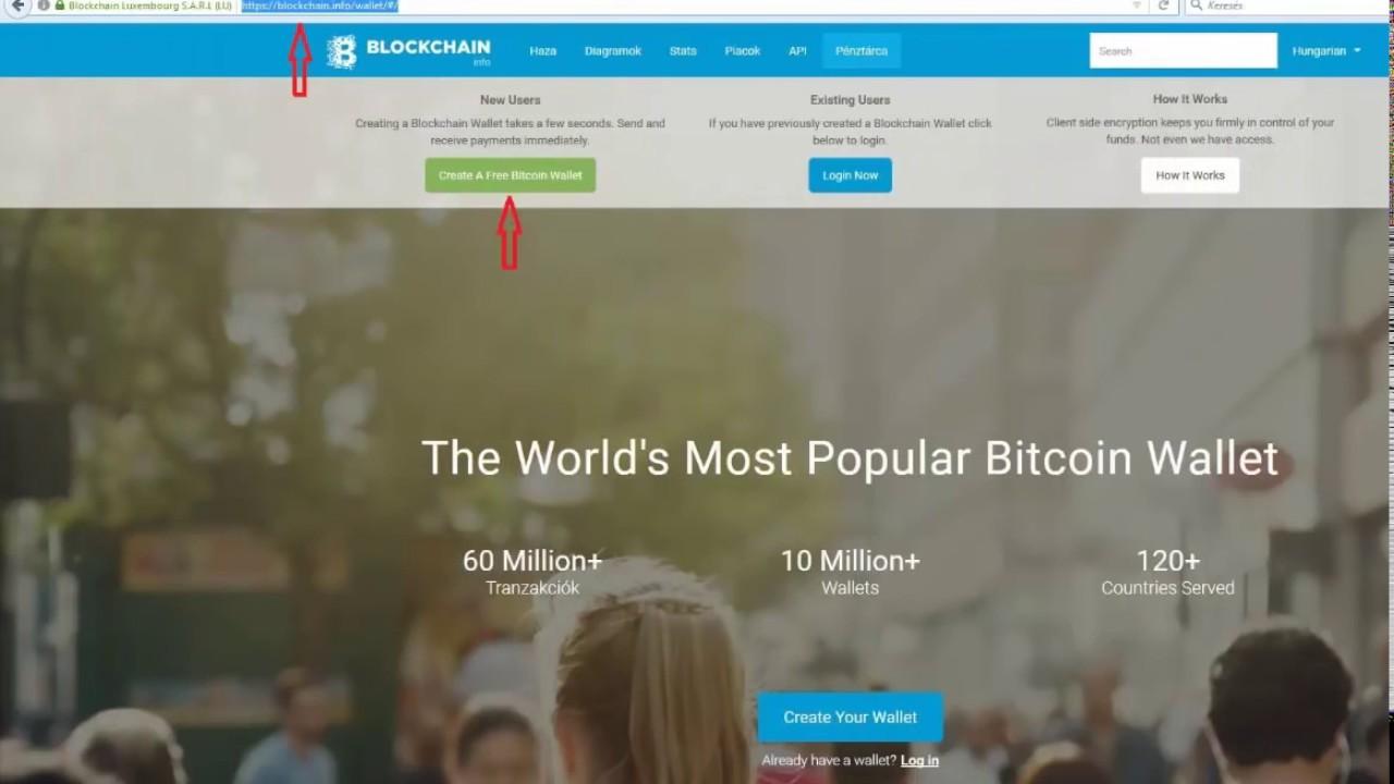blockchain bitcoin pénztárca)