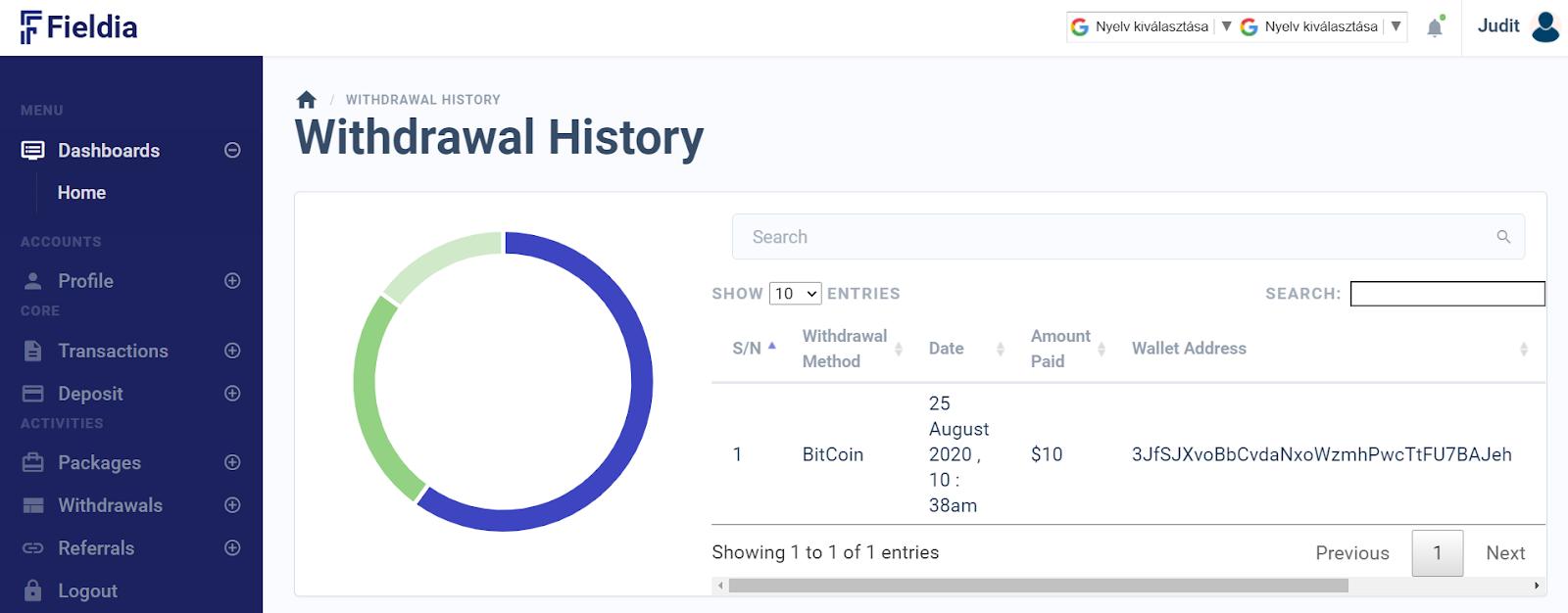azonnali kereset a bitcoinokon