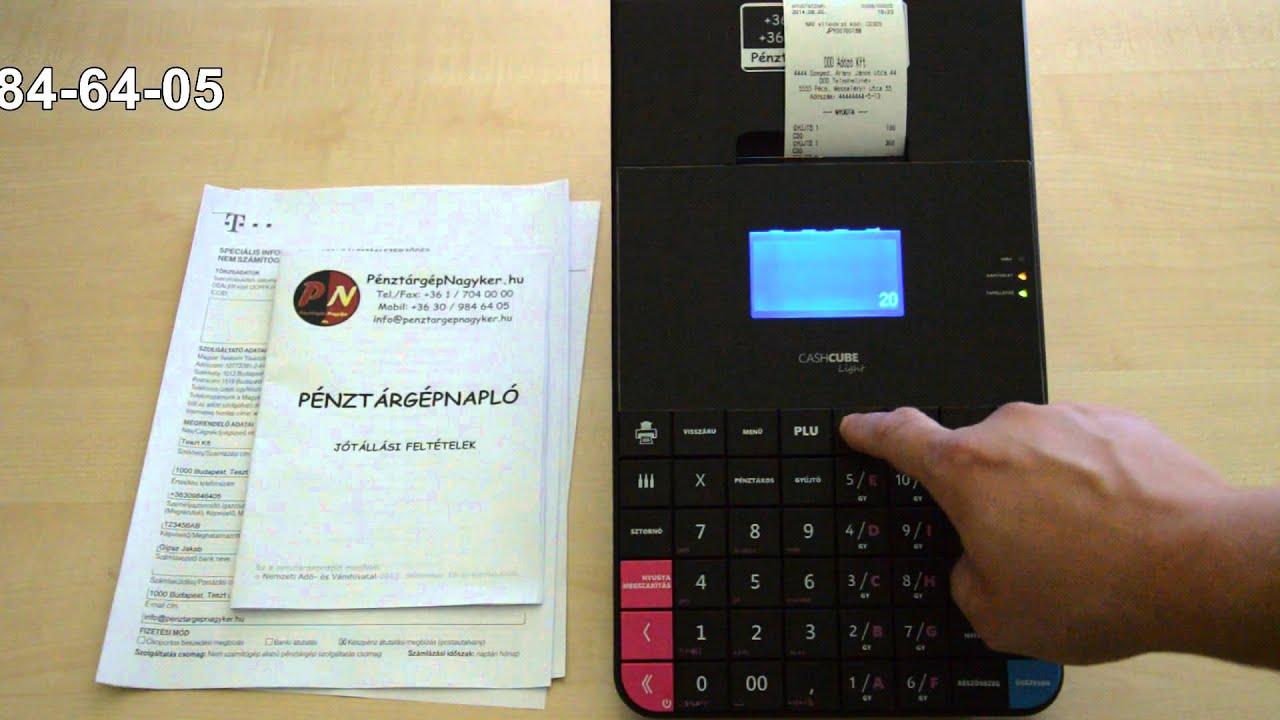 pénztárgép internetes bevételek)