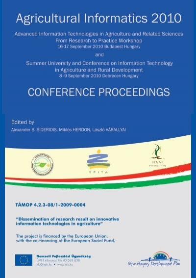 Proceedings - Debreceni Egyetem