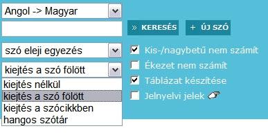 magyar-angol fordítás erre a szóra: opciót