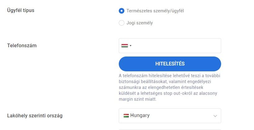 forts demo számla nyitáskor)