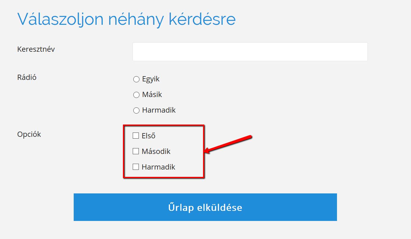 opció létrehozása)