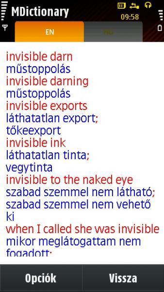 opció jelentése magyarul